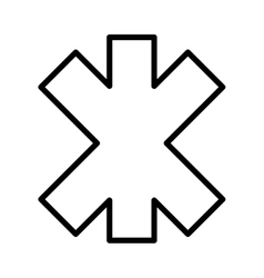 black and white medical icon graphic vector image