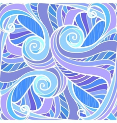 Blue abstract hand-drawn pattern vector image