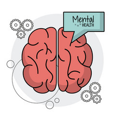 Brain human mental health functions vector