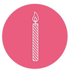 candle birthday isolated icon vector image