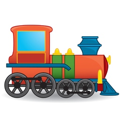 Cartoon locomotive vector