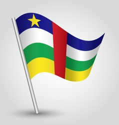 Central african republic flag on pole vector