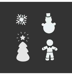Christmas Stencil vector image vector image