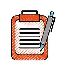 clipboard and pen checklist report information vector image vector image