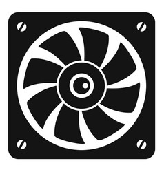 computer fan icon simple style vector image vector image