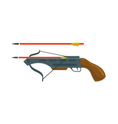 Crossbow with arrow vector