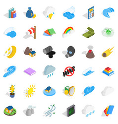 Force icons set isometric style vector