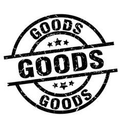 Goods round grunge black stamp vector