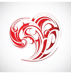 Heart shape tattoo vector image vector image