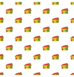 House with attic pattern cartoon style vector