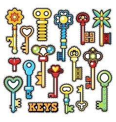 Keys decorative elements for scrapbook vector