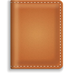 Leather diary or cooking book cover isolated on vector