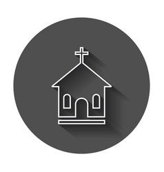 Line style sanctuary icon simple flat pictogram vector