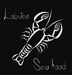 Lobster icon seafood sign fish menu restraunt vector