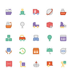 Logistics delivery colored icons 6 vector