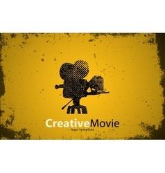 Movie logo creative movie design camera logo vector