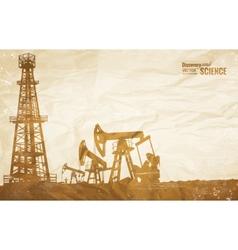 Oil plant design vector image vector image