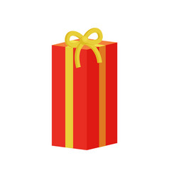 present gift box decorated by ribbons with bows vector image