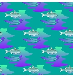 Seamless textures marine ornament with fishes and vector image vector image