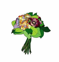 Small bouquet vector