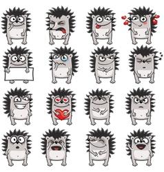 Smiley hedgehog vector