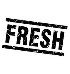 Square grunge black fresh stamp vector