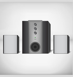 Stereo speakers with subwoofer vector image vector image