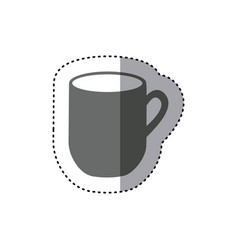 Sticker monochrome silhouette big mug with handle vector