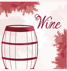 Wine barrel wooden vintage image vector