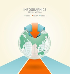 soft color infographics vector image