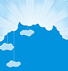 Cut sky cloud cyan vector