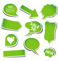 Speech bubbles vector