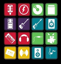 Band icon basic style vector