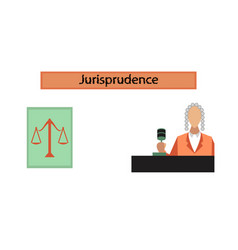 Assembly flat icons jurisdiction judge vector