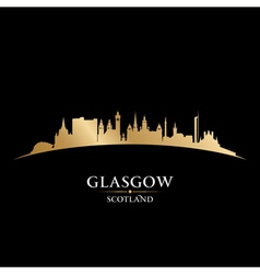 Glasgow Scotland city skyline silhouette vector image