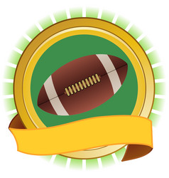 rugby american football round shield and banner vector image