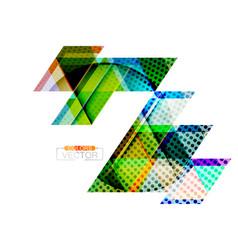 Abstract triangle shape scene vector