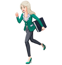 A busy businesswoman vector