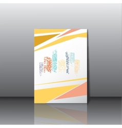 City panorama business card vector