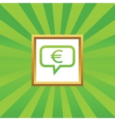 Euro message picture icon vector