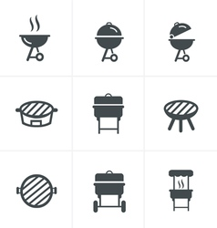 The grill icon barbeque symbol vector