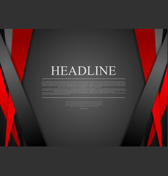 Black and red corporate tech striped design vector
