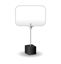 message card holder vector image