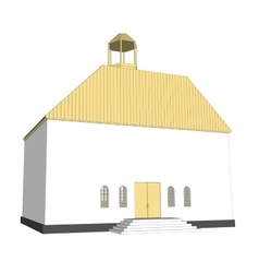 Building 3d church on white background vector
