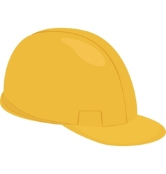 Builder cartoon yellow helmet isolated on white vector image