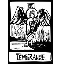 Tarot card for Temperance vector image