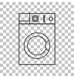 Washing machine sign dark gray icon on vector