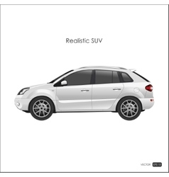 Realistic model of suv on white background vector