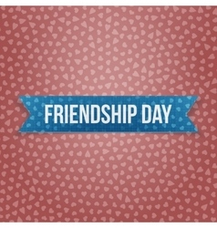 Friendship day realistic blue banner vector