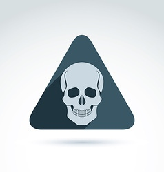 A human skull in a triangle dead head ab vector